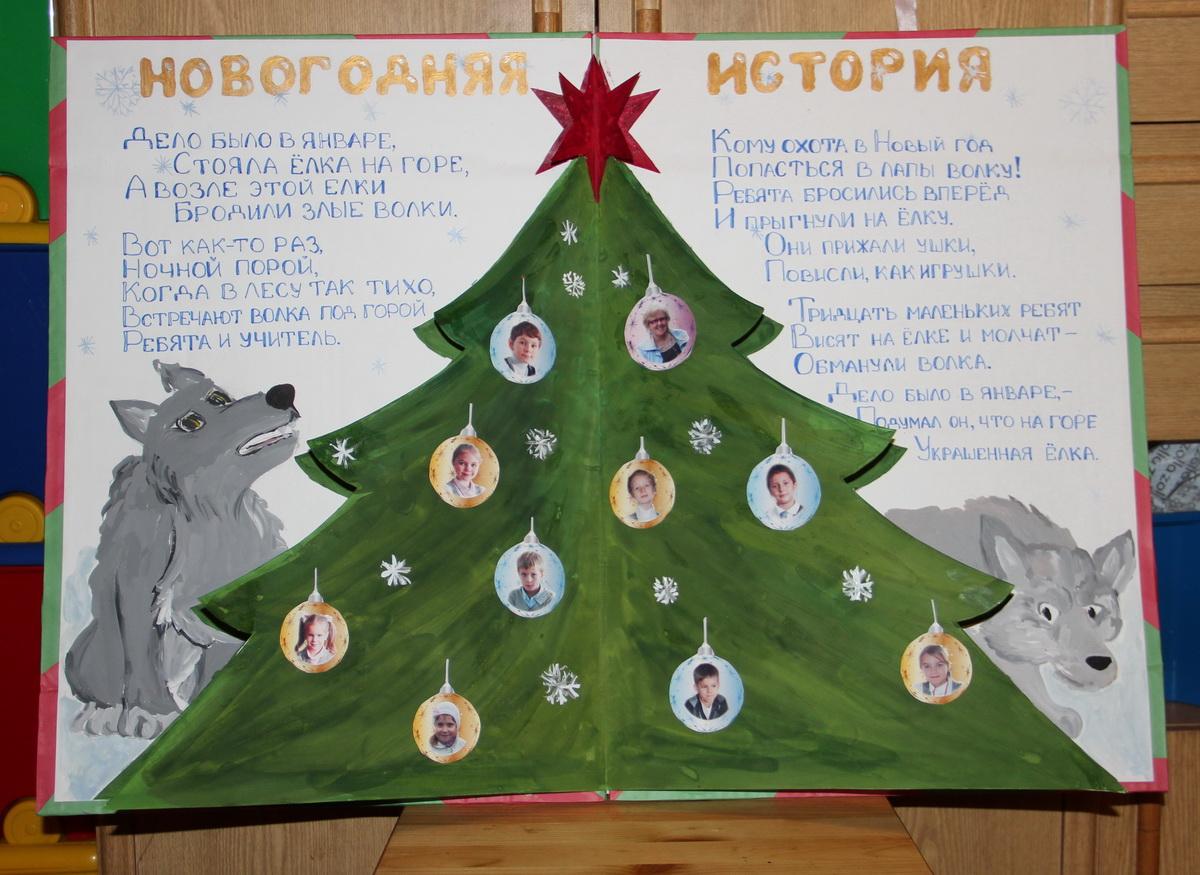 Новогодние плакаты своими руками на 2016 год